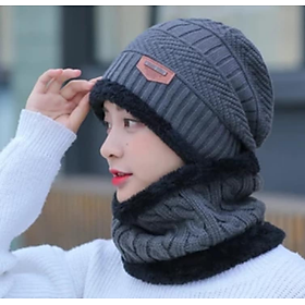 nón len nữ kèm khăn choàng cổ dn19111603