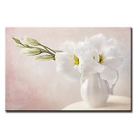 Tranh Canvas Suemall Treo Tường Trang Trí Phòng Ăn Bình Hoa Đẹp CV140886