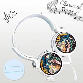 Tai nghe Kimetsu no yaiba anime chibi thiết kế thông minh cá tính cắm dây có mic