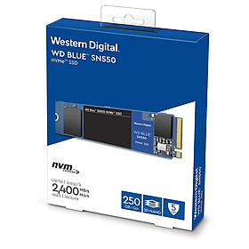 Ổ cứng SSD WD Blue SN550 250GB M.2 2280 NVMe Gen3 x4 WDS250G2B0C - Hàng Chính Hãng