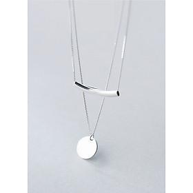 Dây Chuyền Bạc | Dây Chuyền Bạc Nữ Mặt Tròn DB2472 Bảo Ngọc Jewelry
