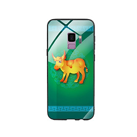 Ốp Lưng Kính Cường Lực cho điện thoại Samsung Galaxy S9 - Tuổi Sửu