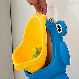 Bô đi tiểu gắn tường cho bé trai-Tặng kèm 3 móc gắn tường- Bô đi vệ sinh hình ếch cho bé trai,Giao màu ngẫu nhiên
