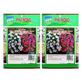 Bộ 2 Gói Hạt Giống Hoa Dừa Cạn Rũ Mix PN11 Phú Nông (10 Hạt / Gói)