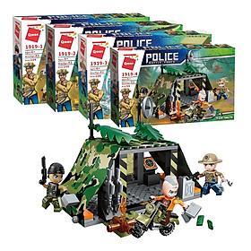 Combo 4 hộp lắp ráp Đội cảnh sát thám hiểm rừng xanh Qman 1919