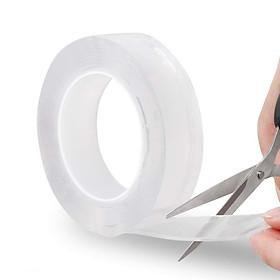 Băng Keo 2 Mặt Ma Thuật Trong Suốt Siêu Dính Khổ 3cm Chất Liệu PU GEL Băng Keo Đa Năng Monkey Grip Tape