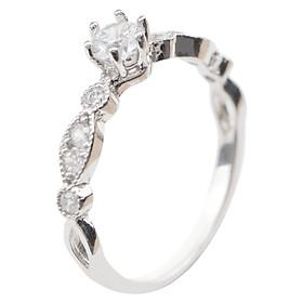 Nhẫn Hạt Dưa Có Hột Gix Jewelry GR023 - Trắng