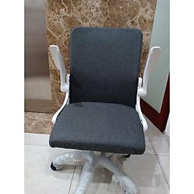 Ghế văn phòng/ ghế giám đốc bọc vải cao cấp, chân xoay 360 độ, mã sản phẩm T384 ,kích thước 46x55x102cm, Màu Sắc Ngẫu Nhiên