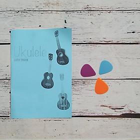Bộ phụ kiện đàn ukulele - guitarlele (Giáo trình, dây, bao đựng, capo, móng gảy, dây đeo, giá để ukulele)