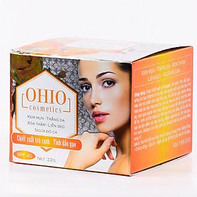 Kem Ngừa Mụn-Trắng da- Xóa thâm- Liền sẹo- Ngừa đỏ da- Chiết xuất trà xanh tinh dầu gạo - OHIO - 22(g)