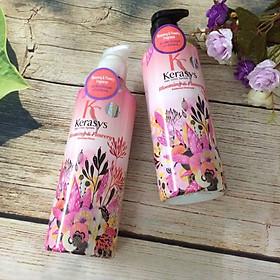 Dầu xả nước hoa KeraSys Blooming& flowery - Hương tuyết tùng và linh lan Hàn Quốc 600ml tặng kèm móc khoá-6