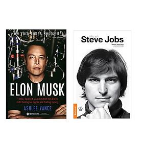 Combo Sách Kinh Doanh: Tiểu Sử Steve Jobs +  Elon Musk