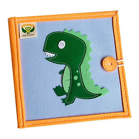 Sách vải giáo dục xuất khẩu CHỦ ĐỀ KHỦNG LONG - Sách vải trang đôi vừa học vừa chơi -dành cho bé 1-6 tuổi