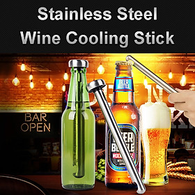 2PCS Stainless Steel Chiller Stick Wine Beer Beverage Portable Cooling Rod Kits