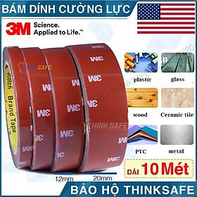 Băng keo cường lực 3M 4229P băng keo 2 mặt siêu dính, siêu chắc, nhiều lựa chọn bề rộng, chiều dài 10 mét