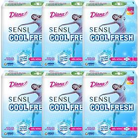Combo 6 Băng Vệ Sinh Diana Cool Fresh Siêu Mỏng (Gói 8 Miếng)