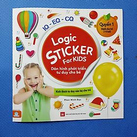 Logic Sticker for kids - Dán hình phát triển tư duy cho bé (4 cuốn)
