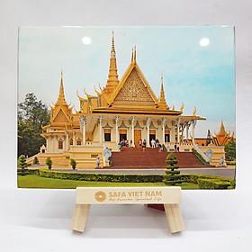 """Tranh Sơn Mài """"Cung điện Hoàng Gia Campuchia"""""""