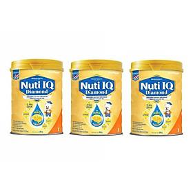 Bộ 3 Lon Sữa bột NUTI IQ Diamond số 1 cho trẻ từ 0-6 tháng - 900g