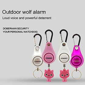 Women Self-defense Anti-wolf Alarm Outdoor Alarm Backpack Alarm Key Ring