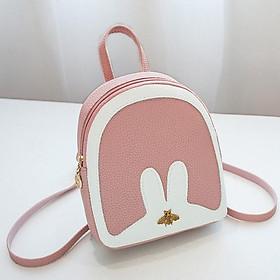 Balo thời trang tai thỏ nhỏ xinh, thiết kế thời trang hợp su hướng, chất liệu da PU bền đẹp TK0012