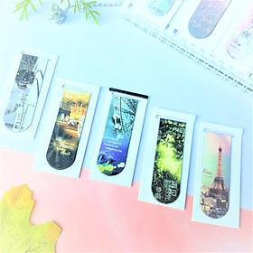 Combo 5 Bookmark Nam Châm Đánh Dấu Sách - Kiến Trúc (Mẫu Ngẫu Nhiên)