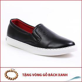 Giày Slip On Nam Aroti Đế Khâu Chắc Chắn Phong Cách Đơn Giản Màu Đen - M498-DEN(GB)