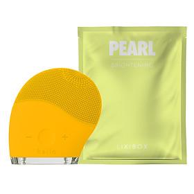 Combo Máy Rửa Mặt Và Mát Xa Da Mặt Halio Và Mặt Nạ Lixibox Pearl