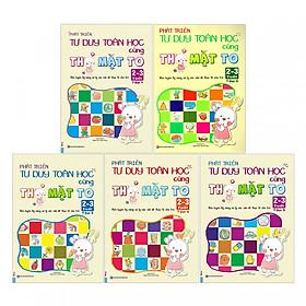 Combo Sách Phát Triển Tư Duy Toán Học Cùng Thỏ Mặt To 2-3 Tuổi (Trọn Bộ 5 Cuốn) tặng kèm bookmark