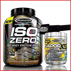 Combo Tăng cơ-Siêu mạnh mẽ ISO ZERO 4lbs + VAPOR X5 hộp 30 lần dùng - Tăng cơ nhanh chóng, Tăng sức mạnh, tăng sự tỉnh táo, tăng sức bền - Kèm quà - Hàng chuẩn nhập khẩu chính hãng
