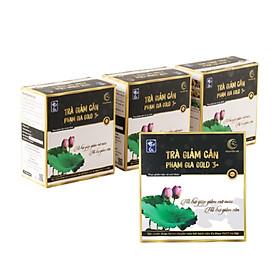 Combo 3 Thực phẩm Trà hỗ trợ giảm cân Phạm Gia Nguyên Hà  Gold 3+ tặng 1 hộp - Hỗ trợ thải độc, thải mỡ thừa trong cơ thể