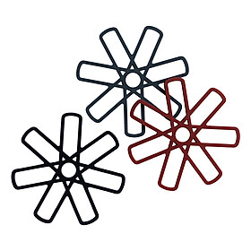 Lót Nồi JYSK Eimill Silicone (Đen / Xám / Đỏ) (18 x 1 cm)
