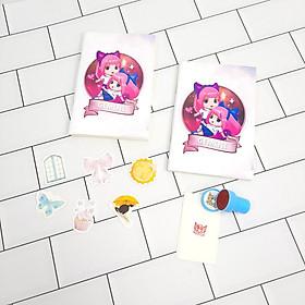 Bộ Sưu Tập Cá Tính Cung Hoàng Đạo Gồm 2 Sổ Tay Và 1 Con Dấu Tặng Kèm 6 Sticker Mini Mẫu Ngẫu Nhiên - song tử