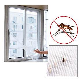 Lưới Chống Muỗi Cửa Sổ, Ngăn Côn Trùng, Lưới Che Cửa Sổ - Sợi Thủy Tinh Chống Cháy Kích Thước 1,5x2 Mét - Băng Dính Dễ Tháo Lắp