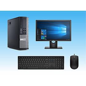 Bộ máy tính Để Bàn Dell Optiplex 9020 (Core i5 - 4570s, Ram 4GB, SSD 240GB) Và Màn hình Dell 18.5 inch ( E1916H) Và bàn phím chuột Dell + Bàn Di chuột + Usb wifi - Cáp Displayport- Chuyên dùng Làm việc - Học Tập - Giải Trí - Hàng Chính Hãng