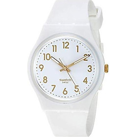 Swatch Classic Quartz Silicone Strap, White, 16 Casual Watch (Model: GW164)