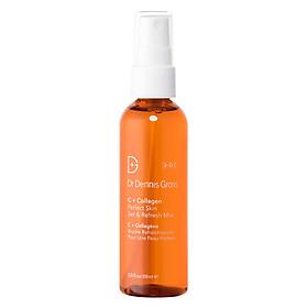 Xịt dưỡng cấp ẩm làm sáng Dr Dennis C + Collagen perfect skin set & refresh mist 88ml