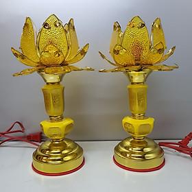 Đèn thờ cánh sen vàng