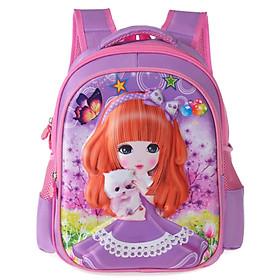 Balo bé gái công chúa 3D tím cho bé mẫu giáo
