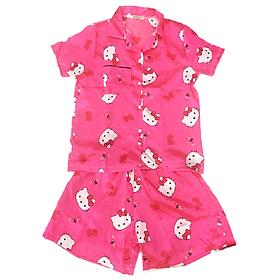 Đồ Mặc Nhà Pijama Thái Vải Phi Bóng PijamaPhiBong10 - Hồng Đậm