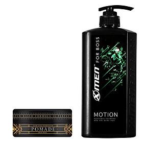 Combo Dầu gội nước hoa X-Men for Boss Motion 650g + Pomade tạo kiểu tóc X-Men For Boss High Hold 60g