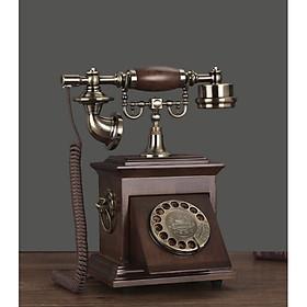 Điện thoại để bàn tân cổ điển chuông thanh bàn phím quay mã DT10 dùng sim di động hoặc dùng cáp nghe gọi âm thanh rõ ràng và để trang trí (điện thoại bàn tân cổ điển)