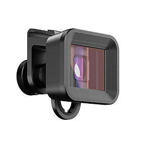 Apexel APL-PRAN-UC 1.33X Deformation Mobile Anamorphic Lens Shot by Filmic APP Widescreen Phone Filmmaking LensBlack