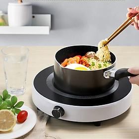 Bếp từ đơn tròn bếp từ dương công suất 2200W  mặt kính cường lực phím cơ chế độ an toàn