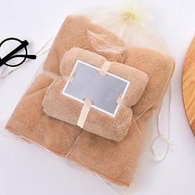 Set 2 Khăn tắm 34x75+70x140,siêu thấm chất liệu 100 cotton 120g+450g -143