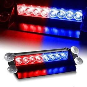 Đèn led báo động xanh đỏ dán kính xe , nắp capo xe ô tô