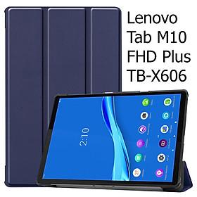 Bao Da Cover Dành Cho Máy Tính Bảng Lenovo Tab M10 FHD Plus TB-X606 10.3 Inch Hỗ Trợ Smart Cover