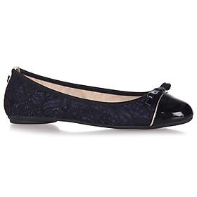 Giày Búp Bê Đế Bệt CARA MIDNIGHT LACE/BLACK Butterfly Twists BT21-012-127 - Xanh Đen