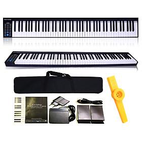 Đàn Piano Điện Konix PH88 - 88 Phím nặng Cảm ứng lực PH-88 - Midi Keyboard Controllers - Kèm Kèn Kazoo DreamMaker (Kết nối máy tính và điện thoại, Bluetooth, Pin sạc, Loa lớn)