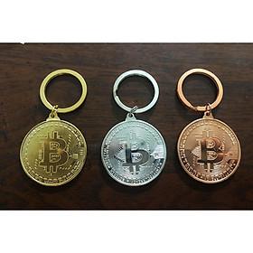 Combo bộ 3 móc khóa Bitcoin mạ Vàng, Bạc, và Đồng